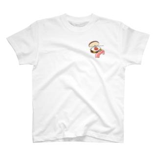 9月限定ワンポイント月見リップちゃんバーガー T-shirts