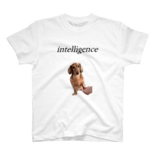 知的なワンコ T-shirts