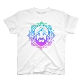 曼荼羅風ターバンさん2 T-shirts