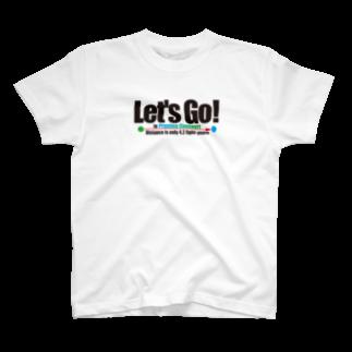 ACTIVE-HOMINGのLet's Go! to Proxima Centauri グッズ黒字 T-shirts