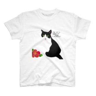ハチワレ猫 猫山さん1 T-shirts