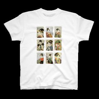 安永峰夫の歌麿D T-shirts