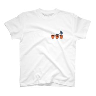 サメの育て方 ひかえめ T-shirts