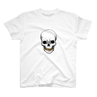 スカル【金歯】 T-shirts