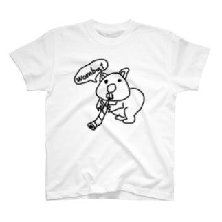 ウォンバットとディジュリドゥ T-shirts