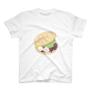 最中アイス まるまるつるっとしたうさぎ T-shirts