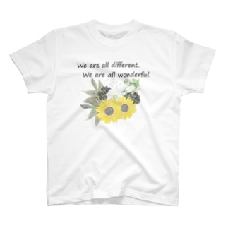 花を wonderful ver. T-shirts