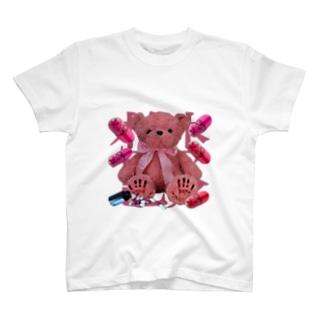 ぽくしゅり。(メンヘラくま) T-shirts