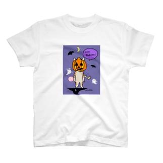 猫 茶トラ ハロウィーン T-shirts