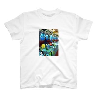 海中電車 T-shirts