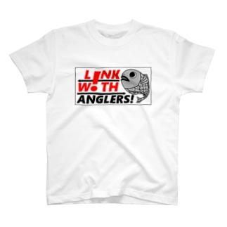 L!NK W!TH ANGLERS! 公式ステッカー T-shirts