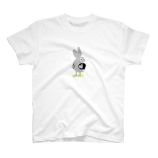 下校中のウサギ T-shirts