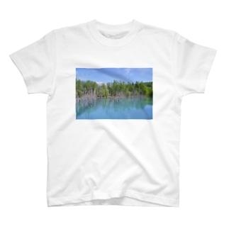 青い池02 T-shirts