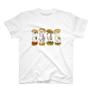 にゃんこバーガー T-shirts