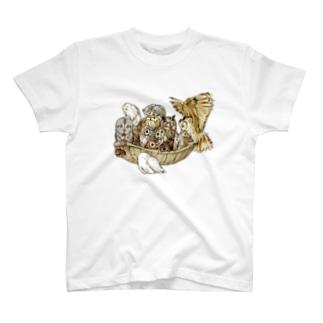 フクロウの盛り合わせ T-shirts