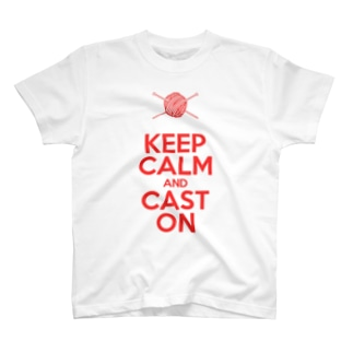 KEEP CALM AND CAST ON T-shirts