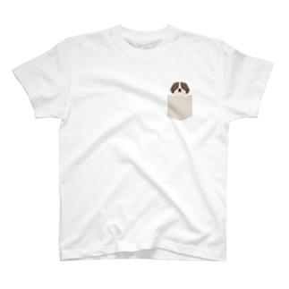 ひょっこりビーグル犬 T-shirts