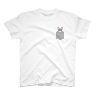 ひょっこりフレンチブルドッグ T-shirts