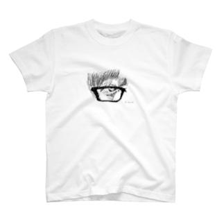 目のデッサン T-shirts