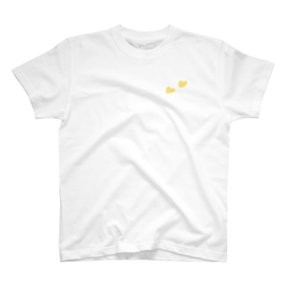 Tシャツ(白)   ハート(イエロー) T-Shirt