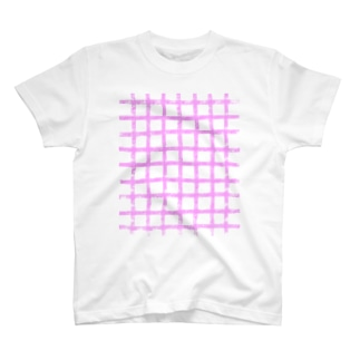 ギンガムチェック   ピンク T-Shirt