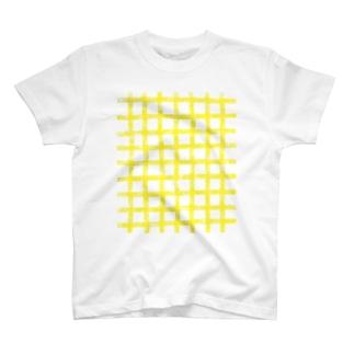 ギンガムチェック  イエロー T-Shirt