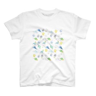 めっちゃセキセイインコちゃん【まめるりはことり】 T-shirts