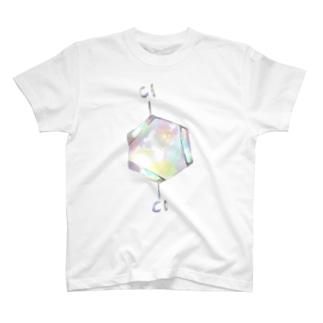 パラジクロロベンゼンの化学構造式 T-shirts