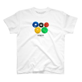 オリンピック風 ボルダリング ホールド T-shirts