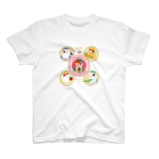 ハッピー!ラブリー!コザクラインコ T-shirts