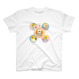 ハッピー!ラブリー!オカメインコ T-shirts