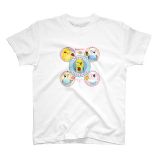 ハーッピー!ラブリー!セキセイインコ T-shirts