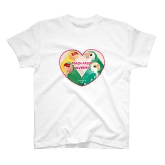 ハート型コザクラインコ T-shirts