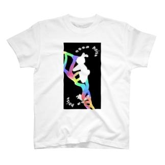 DNAを上るウサギたちです T-shirts