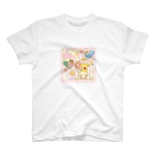 バードケージとインコ T-shirts