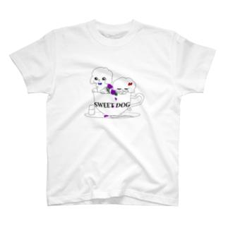 ティーカップとプードル(シンプル) T-shirts