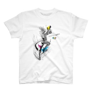 サヨナラの最終回×IMALAB(C01-WHITE) T-shirts