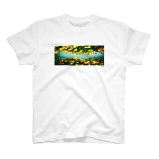 NIYOCO×IMALAB(D02-WHITE) T-shirts
