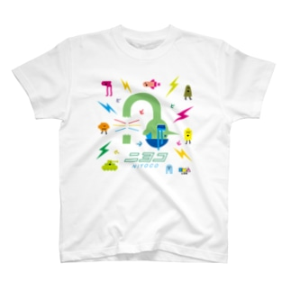 NIYOCO×IMALAB(E02-WHITE) T-shirts