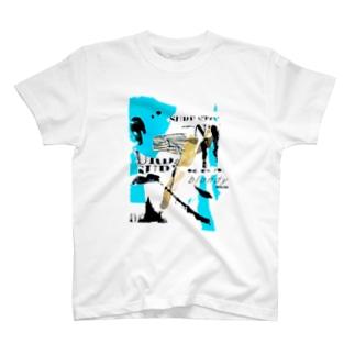 blondy×IMALAB(F03-WHITE) T-shirts