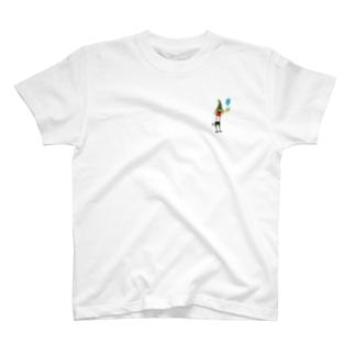 ゴミ人間 ワンポ T-shirts