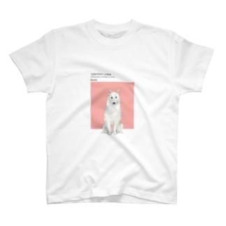 犬 ヤクーチアン ライカ  T-shirts