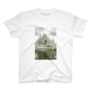 ホワイトテンプル001 T-shirts