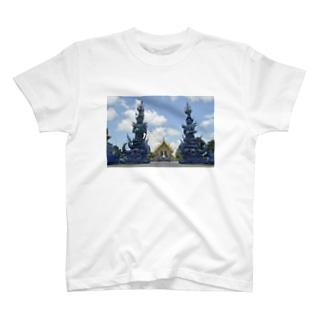 ブルーテンプル002 T-shirts