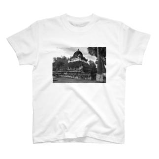 ルアンパバーン スイカ寺モノクロ T-shirts