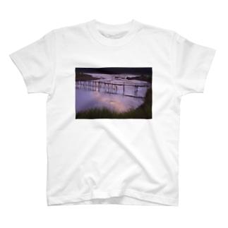 ルアンパバーン バンブーブリッジ001 T-shirts