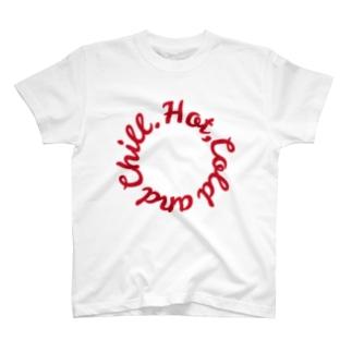 ローテーション(赤) T-shirts