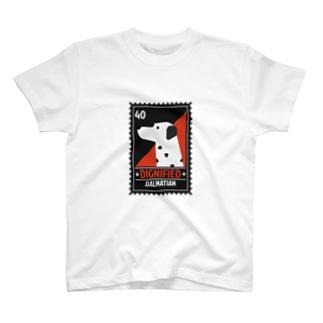 ダルメシアン ポストスタンプ T-shirts