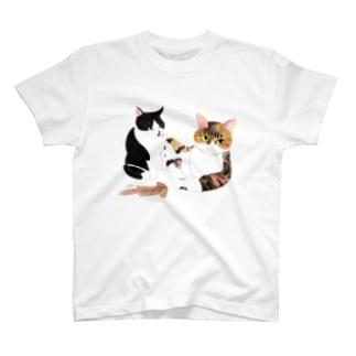 スルメの取り合い T-shirts