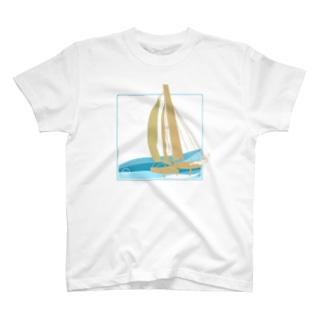 カタマランヨット T-shirts
